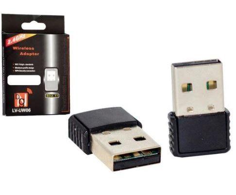 Mini Adaptador Wifi Wireless 300Mbps 2.4GHZ Mediatek 5370
