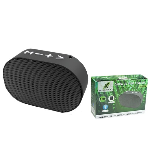 Mini Caixa de Som Bluetooth X-Cell Portátil 4.5W Preto XC-MS-04
