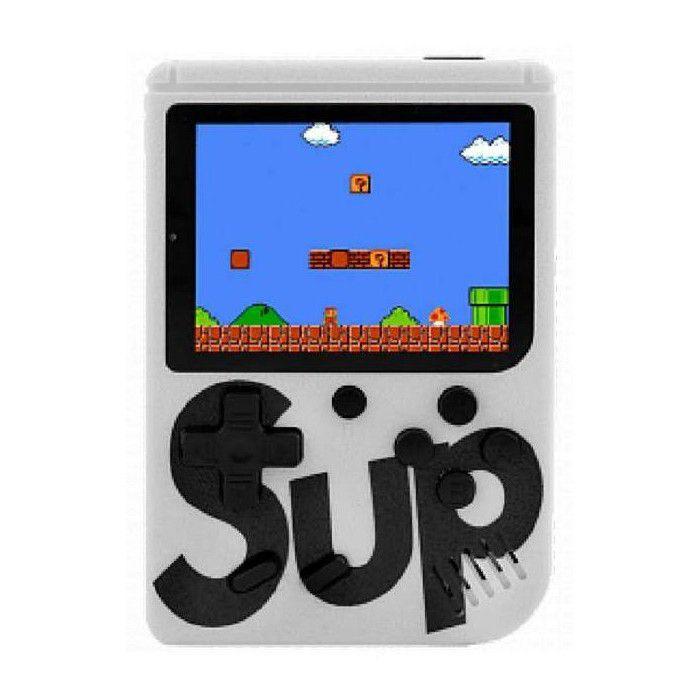 Mini Game Box Console Portátil C/ 400 Jogos Retrô Branco