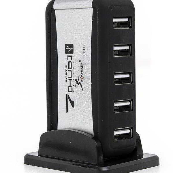 Mini Hub Usb 7 Portas 2.0 High Speed 480mbps C/ Fonte HB-T68