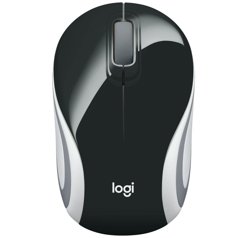 Mini Mouse Logitech Sem Fio 1000Dpi Preto - M187