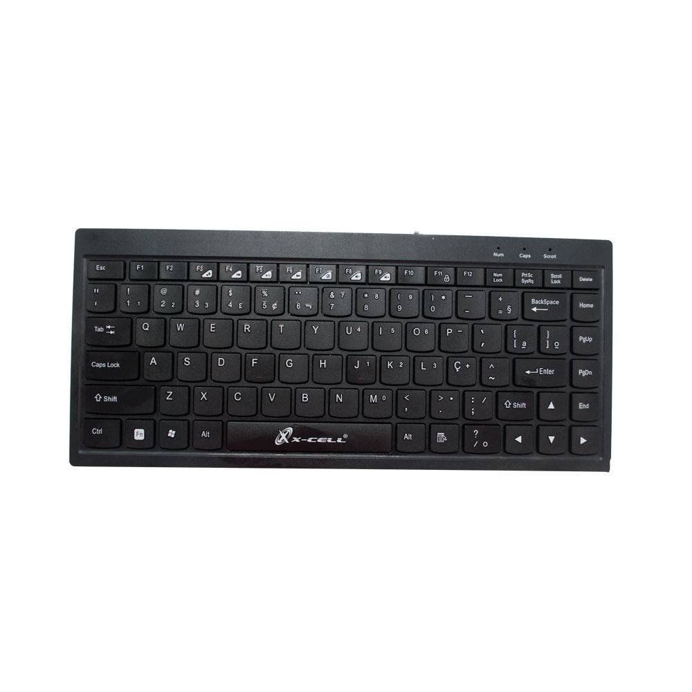 Mini Teclado Slim Preto USB X-cell XC-TEC-02