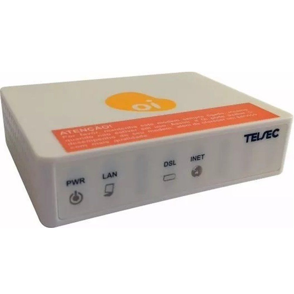 Modem ADSL Kit Oi Velox TS-9000 Telsec Desbloqueado até 10MB