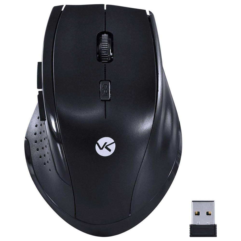 Mouse Hibrido Wi Fi e Bluetooth 1200DPI Ergo Vinik DM120 Preto