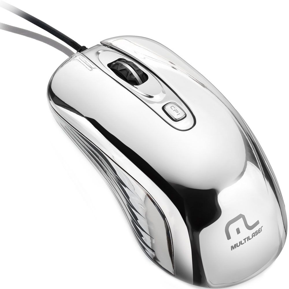 Mouse Gamer Chrome Warrior Prateado Mo228