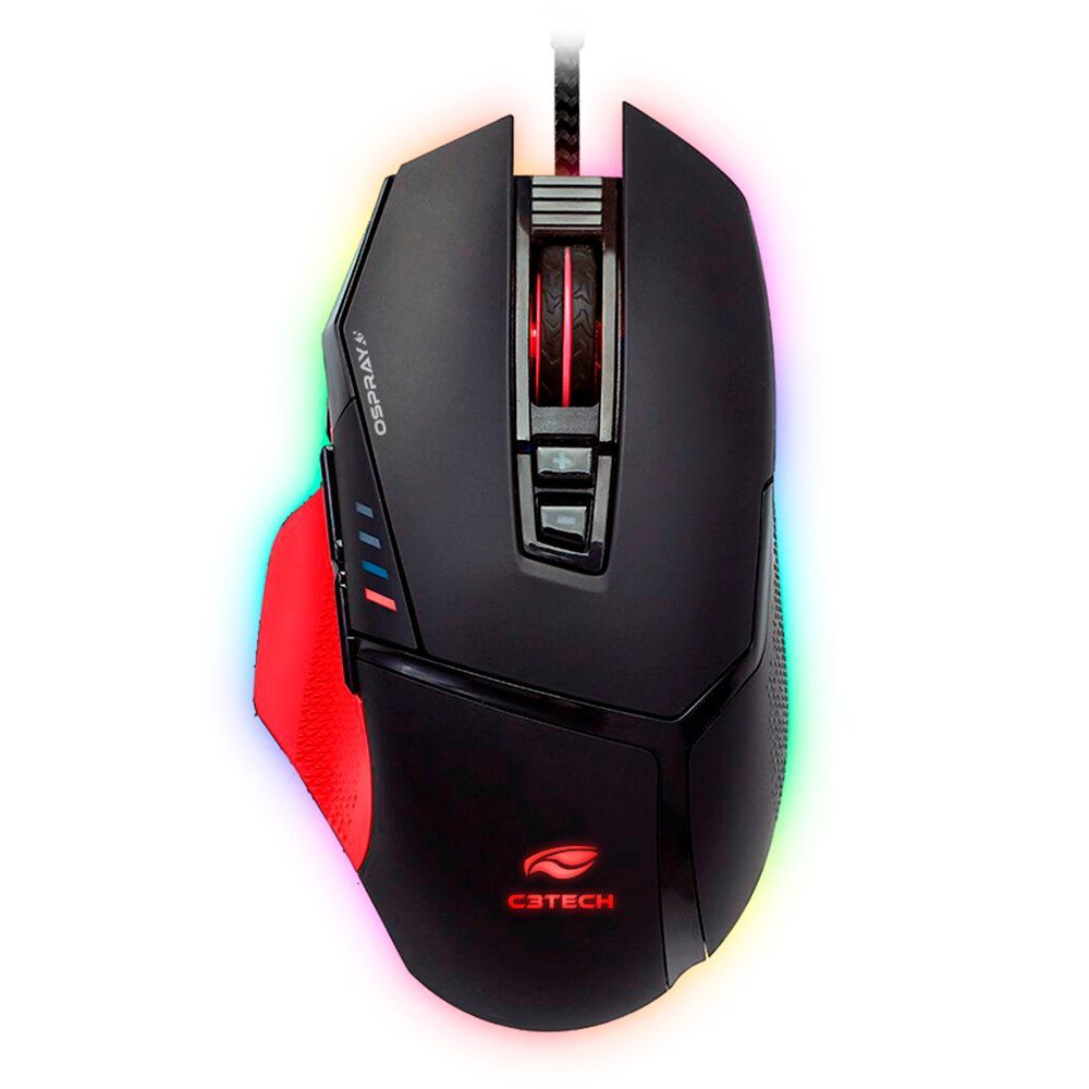 Mouse Gamer C3 Tech 12000dpi - MG-800BK