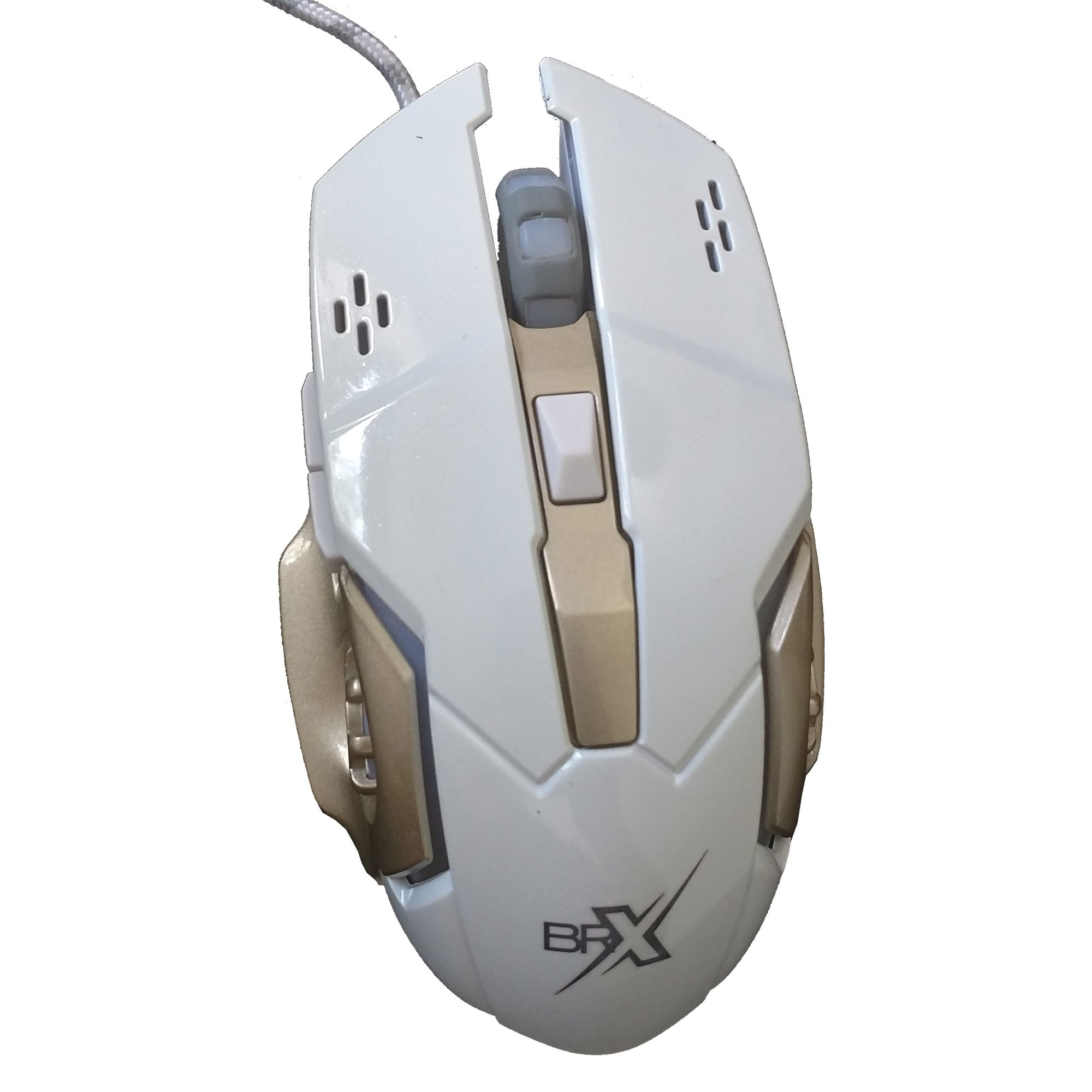 Mouse Gamer Luminoso  BRX USB  3200DPI HV-MS783 Branco