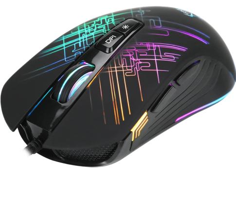 Mouse Gamer Xtrike-Me RGB 7 Botões 6400 DPI Black - GM-510