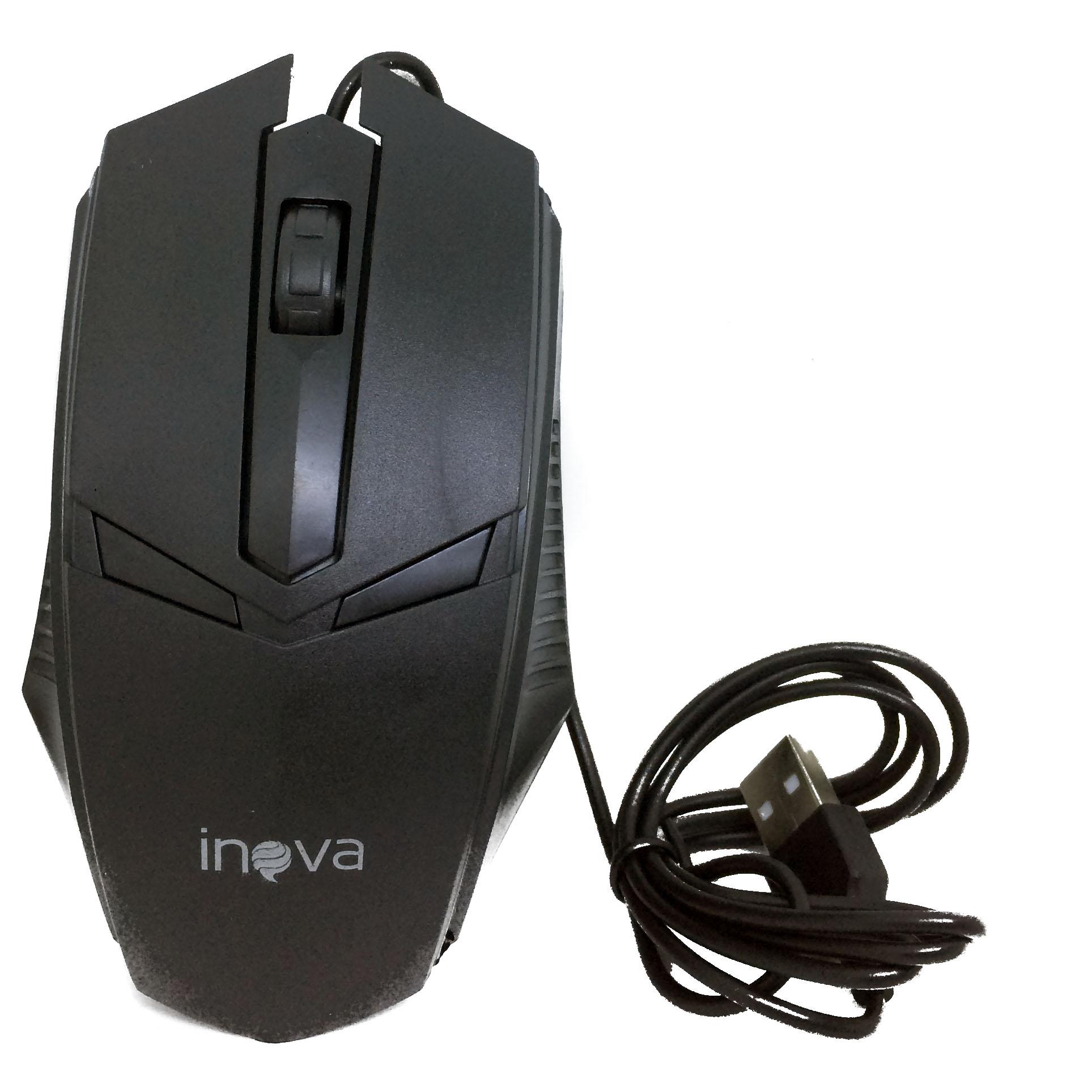 Mouse Óptico Com Fio USB 800Dpi Inova MOU-6935 Preto - INOVA BLISTER