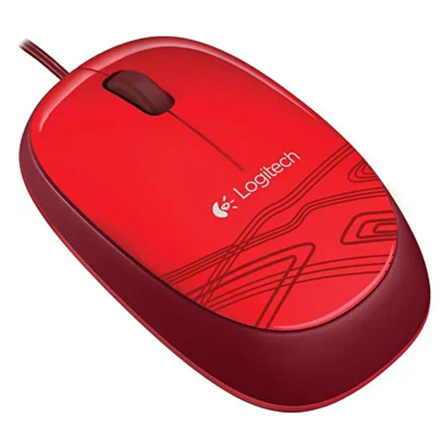 Mouse óptico Logitech 1000DPI USB Vermelho - M105