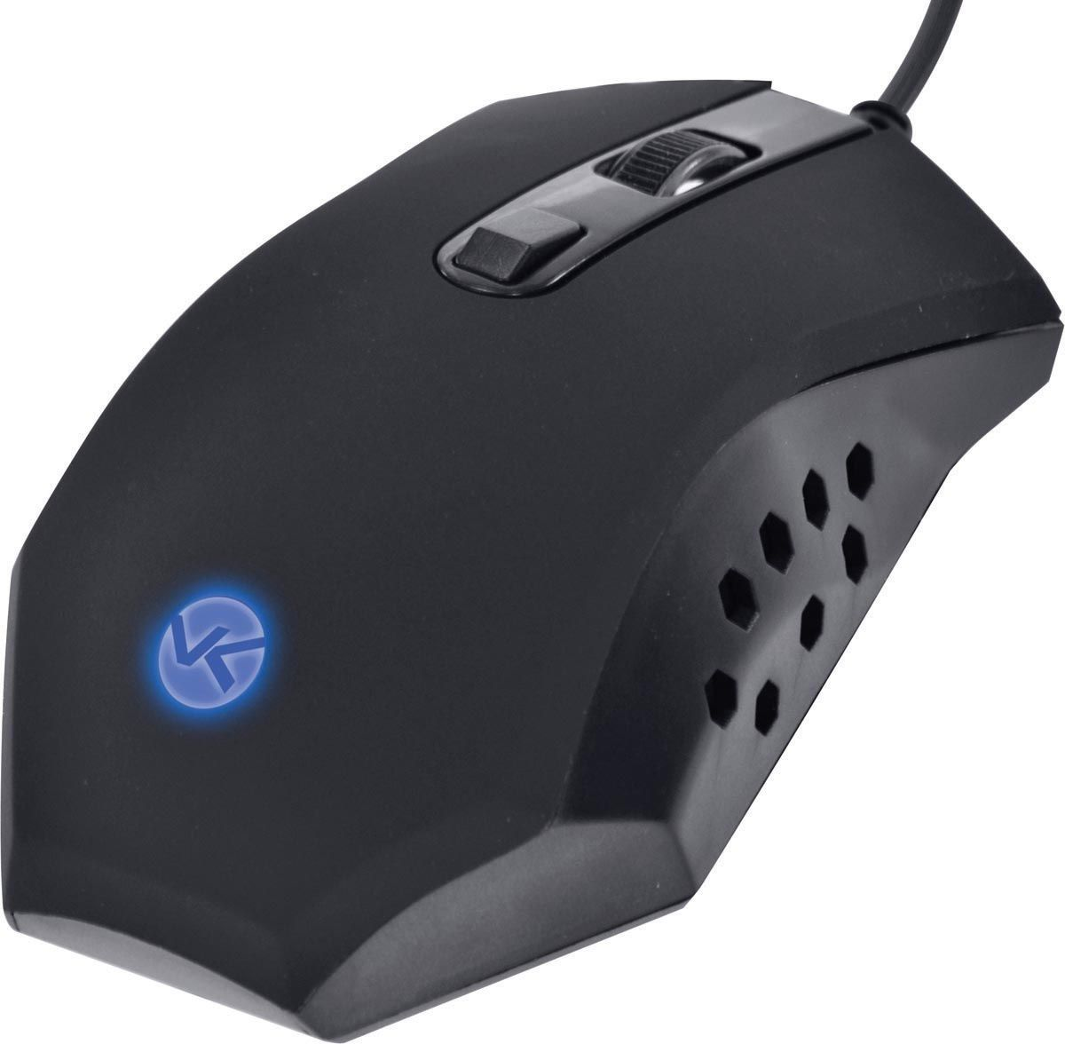 MOUSE OPTICO VX GAMING SNAKE 1600 DPI LED AZUL