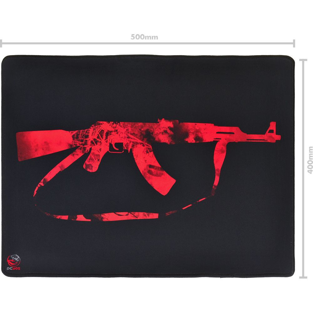 Mouse Pad Gamer 500x400mm Ak-47 PCYes