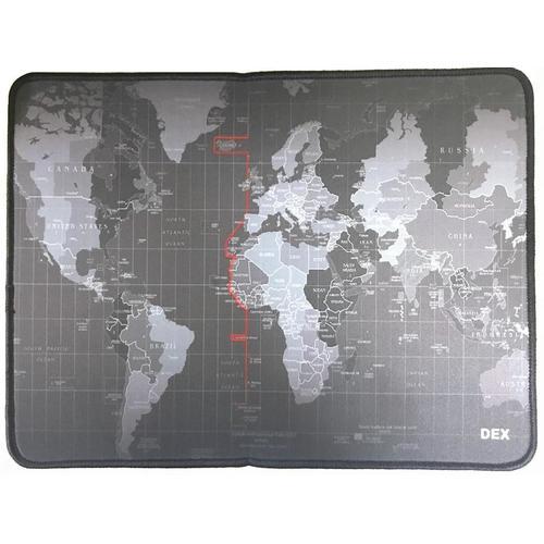 Mouse Pad Gamer Emborrachado Dex Mapa Mundi