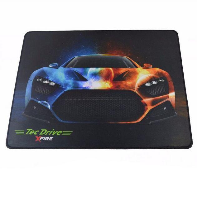MousePad Gamer emborrachado Tecdrive 44x33CM - Ghost Car Fire