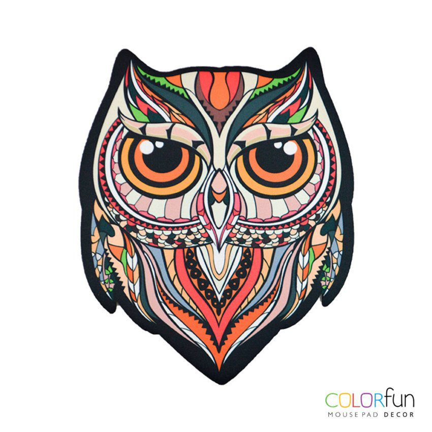 Mousepad / Imã Decorativo ColorFun – Owl Color Roruja