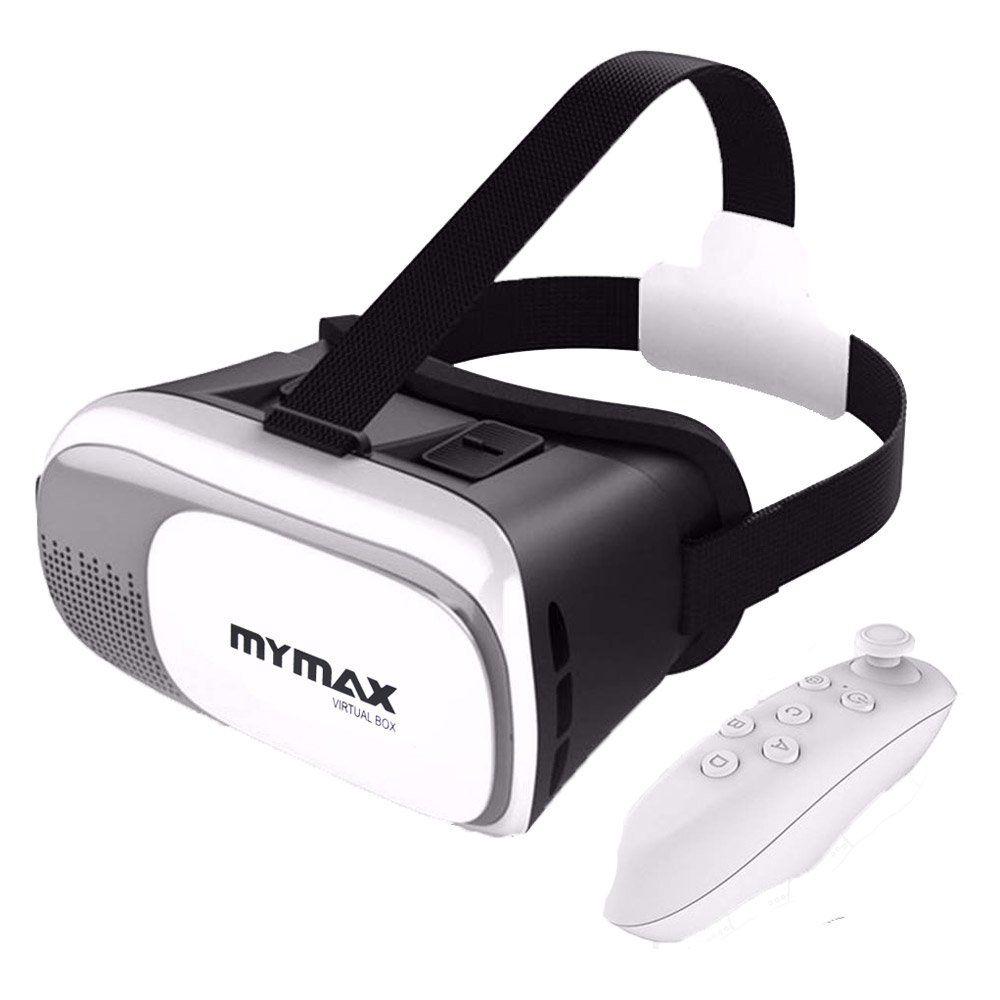 d5c5b11a3ec0d Óculos de Realidade Virtual 3D V-Box Branco + Controle Mymax - FrancaVirtual  Informática - Conectando você à ...