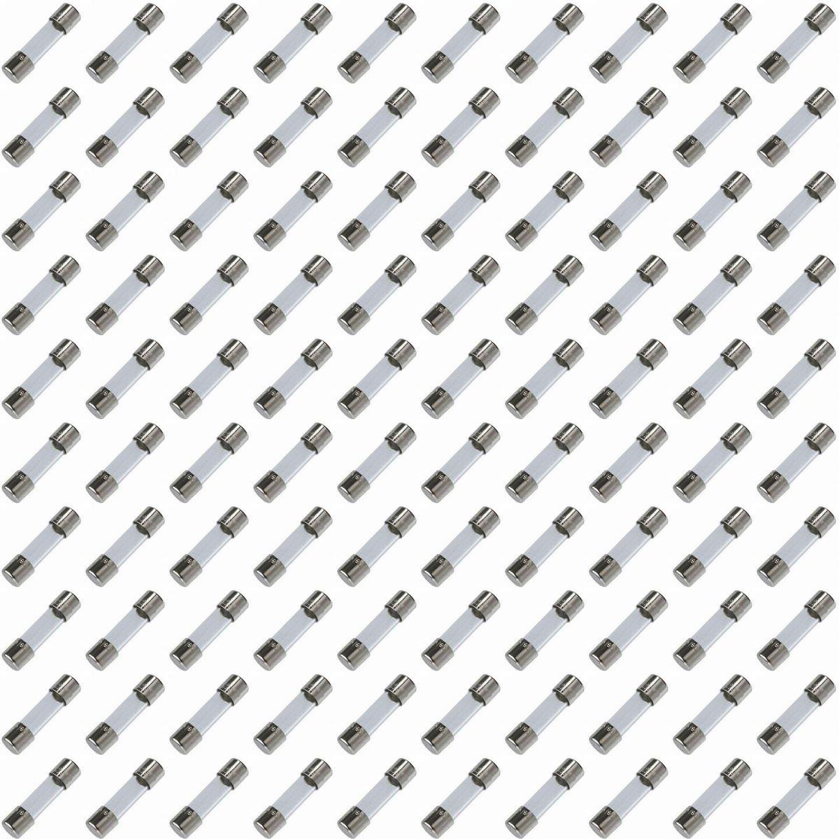 Pacote C/ 100x Fusivel De Vidro 5x20mm 10a