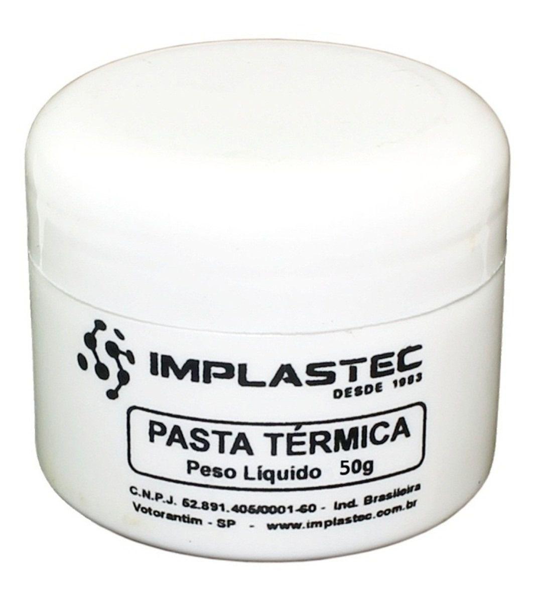 Pasta Térmica p/ processador Implastec Pote 50g
