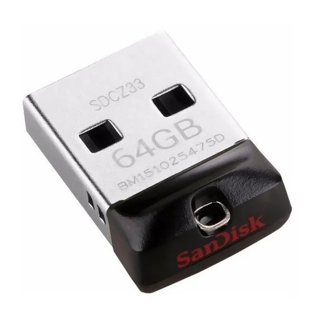 Pen Drive Sandisk Cruzer Fit 64GB Usb Mini Flash Drive SDCZ33-064G-G35 - Z33