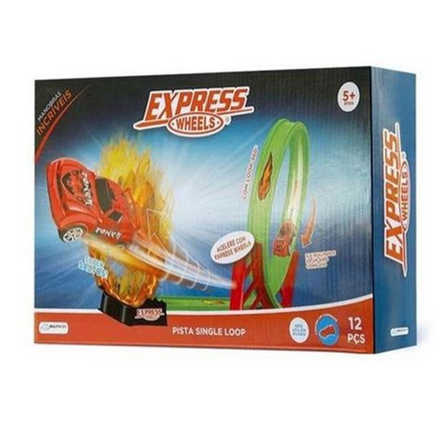 Pista De Corrida Express Wheels Single Loop Multikids - BR1017