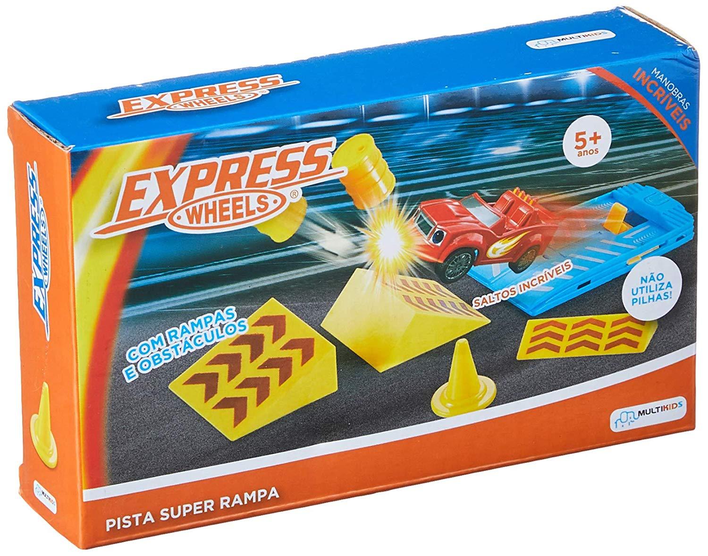 Pista Super Rampa Express Wheels Obstáculos Multikids - BR1018
