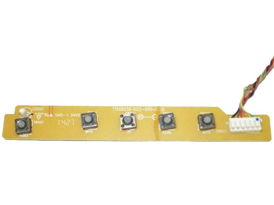 Placa Botão Monitor TV Aoc M2470pwh E2770SHE 715G6039-K02-000-001S Semi Novo
