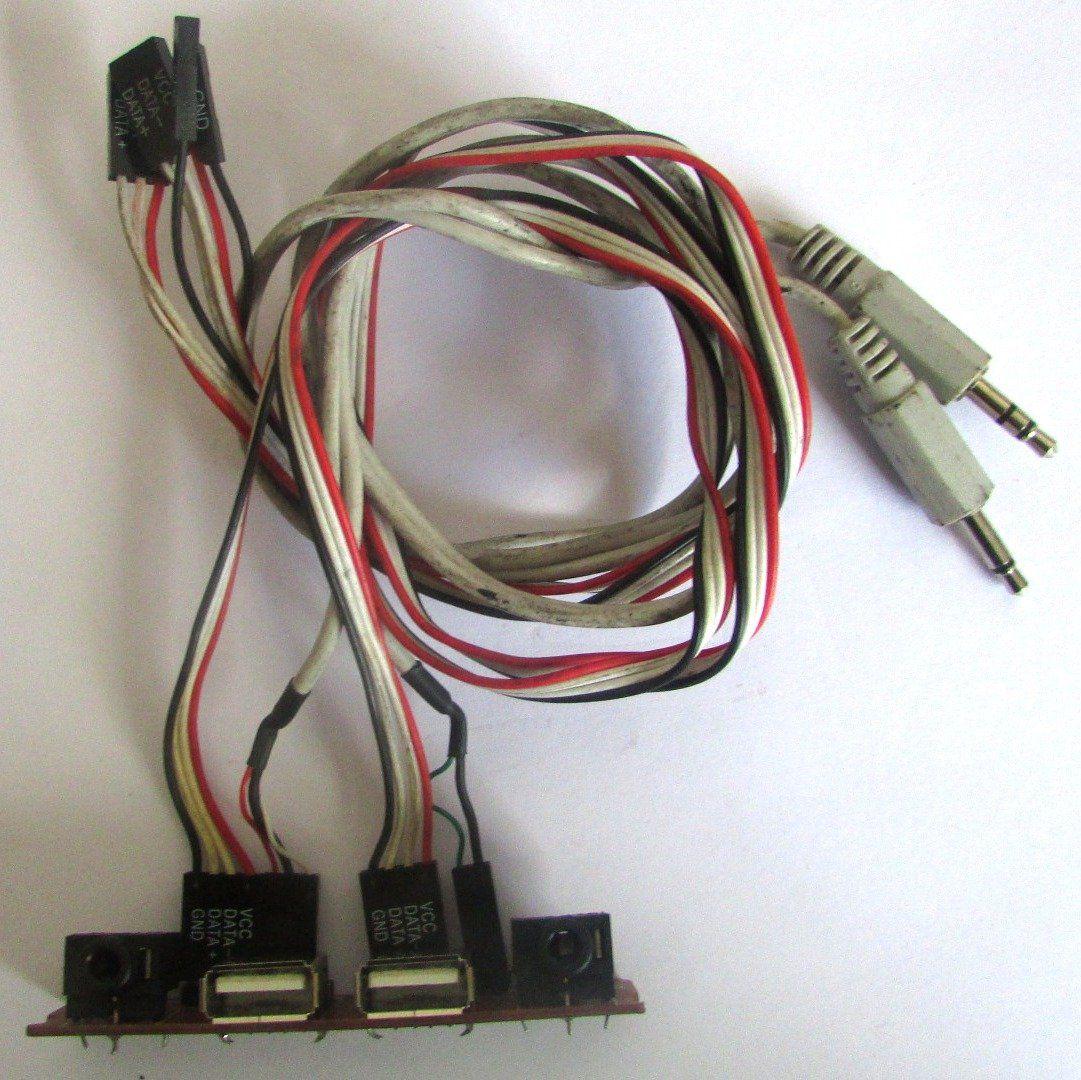 Placa Conector 2 Entrada Áudio e 2 Entrada USB P/ Gabinete  HY-ZS100A (semi novo)