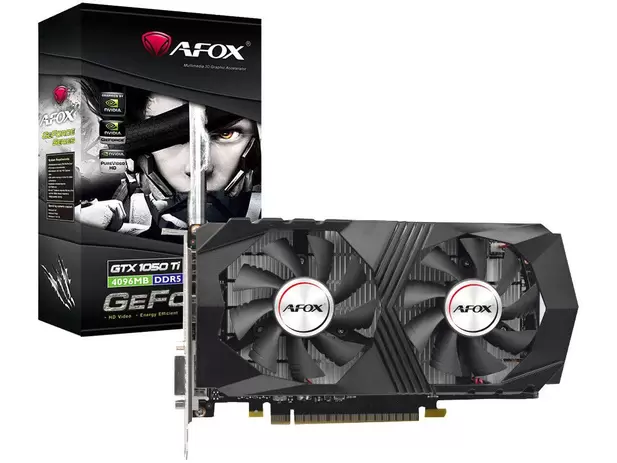 Placa de Vídeo Afox GeForce GTX1050 Ti 4GB GDDR5 - AF1050TI