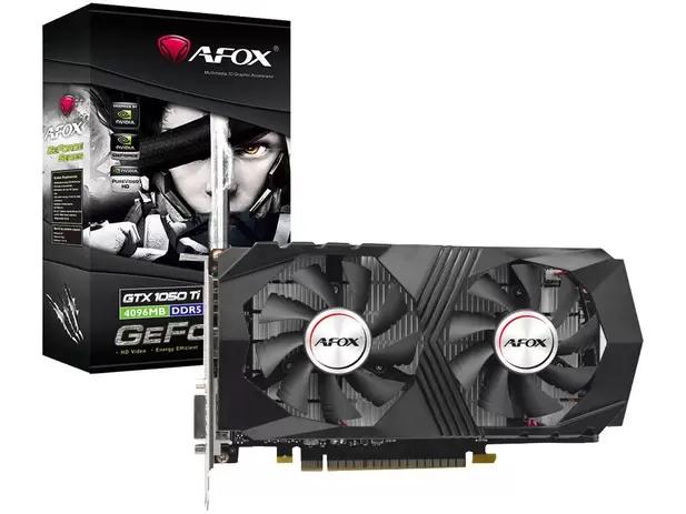Placa de Vídeo Afox GeForce GTX1050 Ti 4GB GDDR5 - AF1050TI