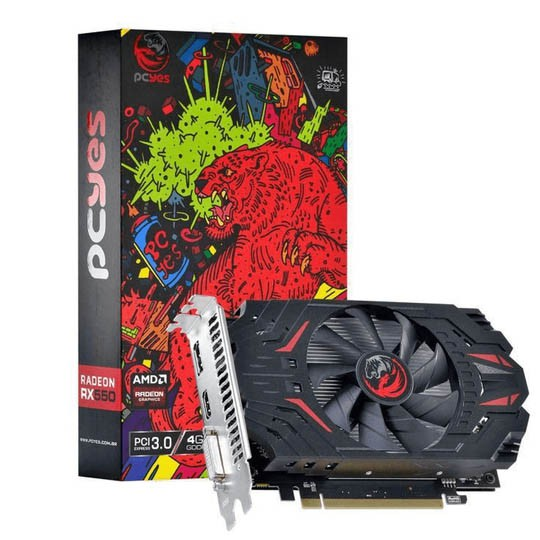 Placa De Video Amd Radeon Rx 550 4gb Gddr5 128 Bits Pcyes - RX 550 4GB GDDR5