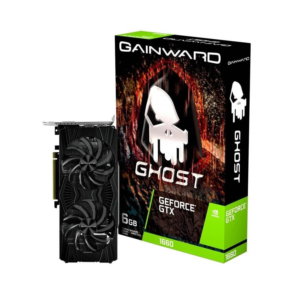 Placa De Video Gainward Geforce Gtx 1660 6gb Ghost Gddr6 - NE6166S018J9-1160X
