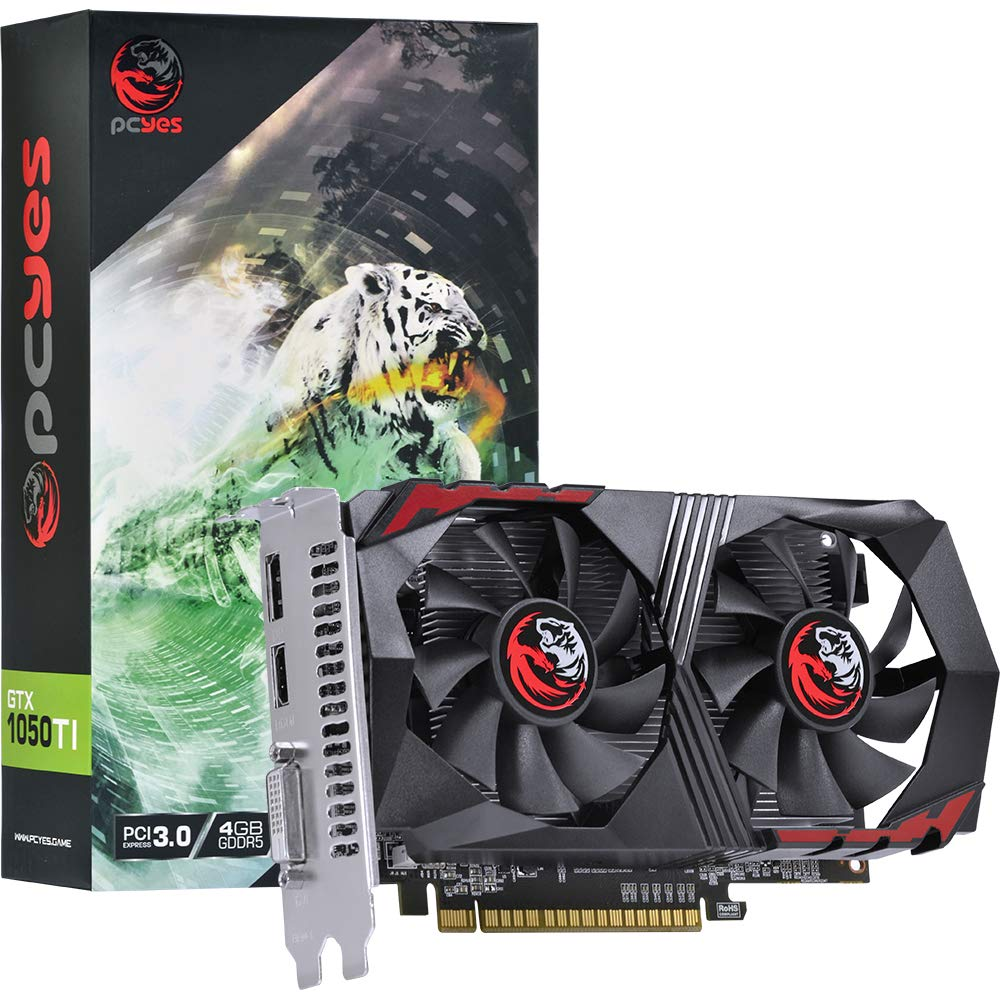 Placa de Vídeo PCYes Geforce GTX 1050Ti 4GB PA1050TI12804G5DF
