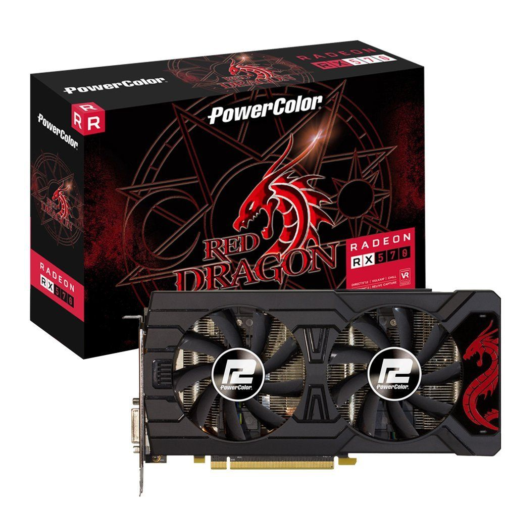 Placa de Video VGA AMD PowerColor RADEON RX 570 4GB GDDR5 AXRX 570 4GBD5-3DHD/OC