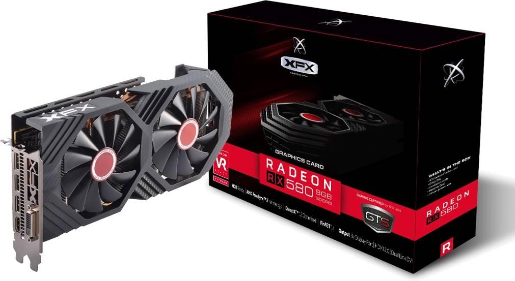 Placa de Vídeo VGA AMD XFX RADEON RX 580 OC+ GTS XXX EDITION 8GB DDR5 1386Mhz - RX-580P8DFD6