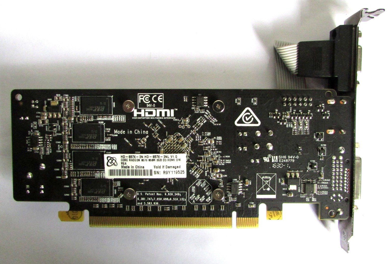 Placa De Vídeo Xfx Amd Radeon R5 230 2gb 128bits/ddr3/hdmi (semi