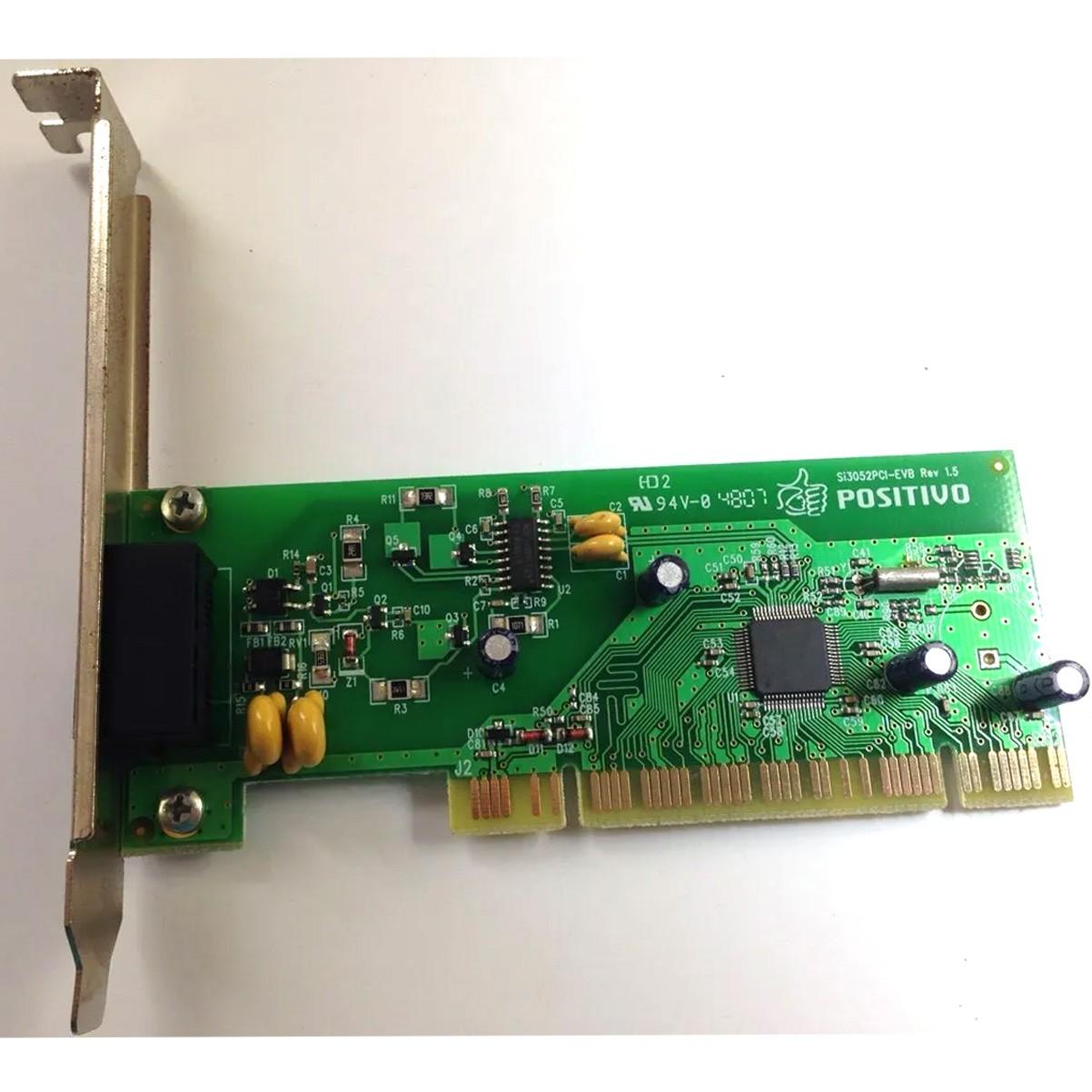 Placa Fax Modem Positivo/motorola PN: Si3052pci-evb Rev 1.5 - Retirado