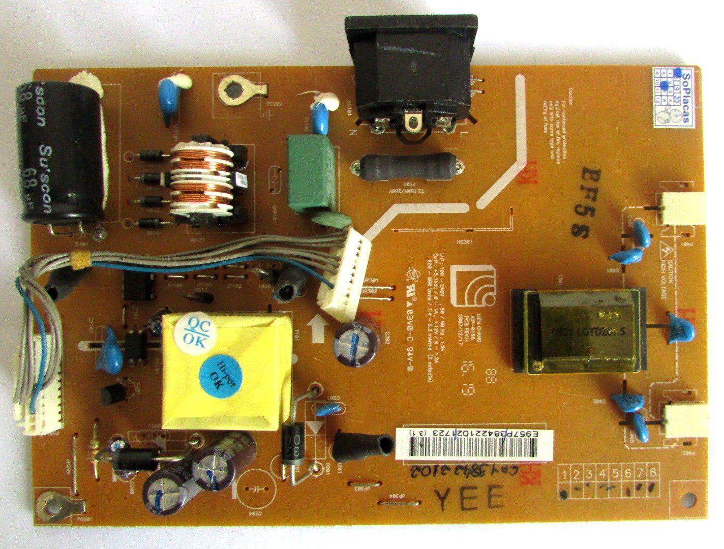 Placa Fonte Monitor LG L1653t PN: 03v0-b 94v-0 - Retirado