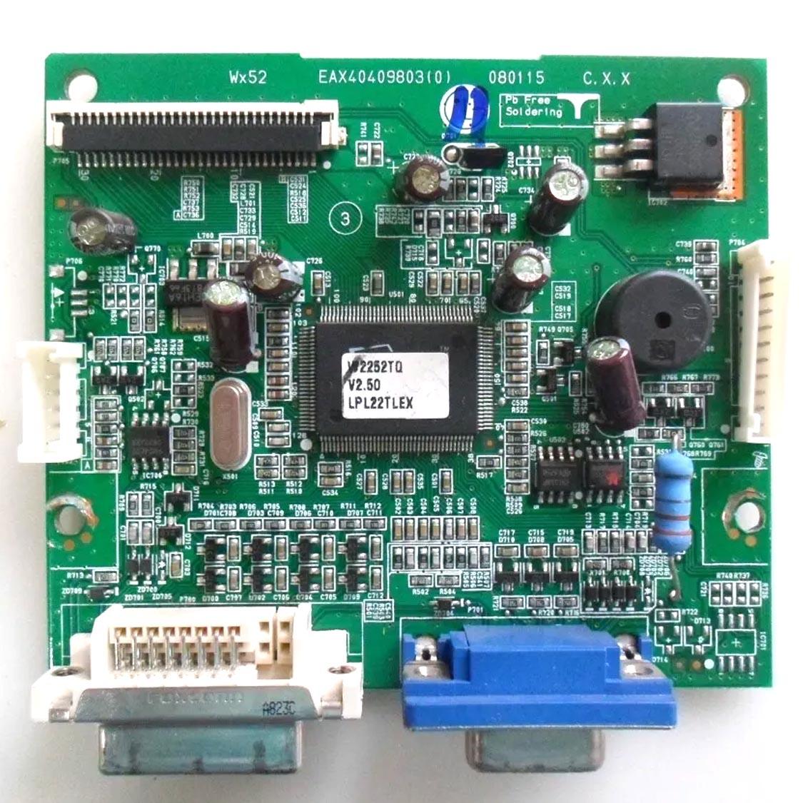 Placa Lógica Monitor LG Lgw2252tq eax40409803-0 - Retirado