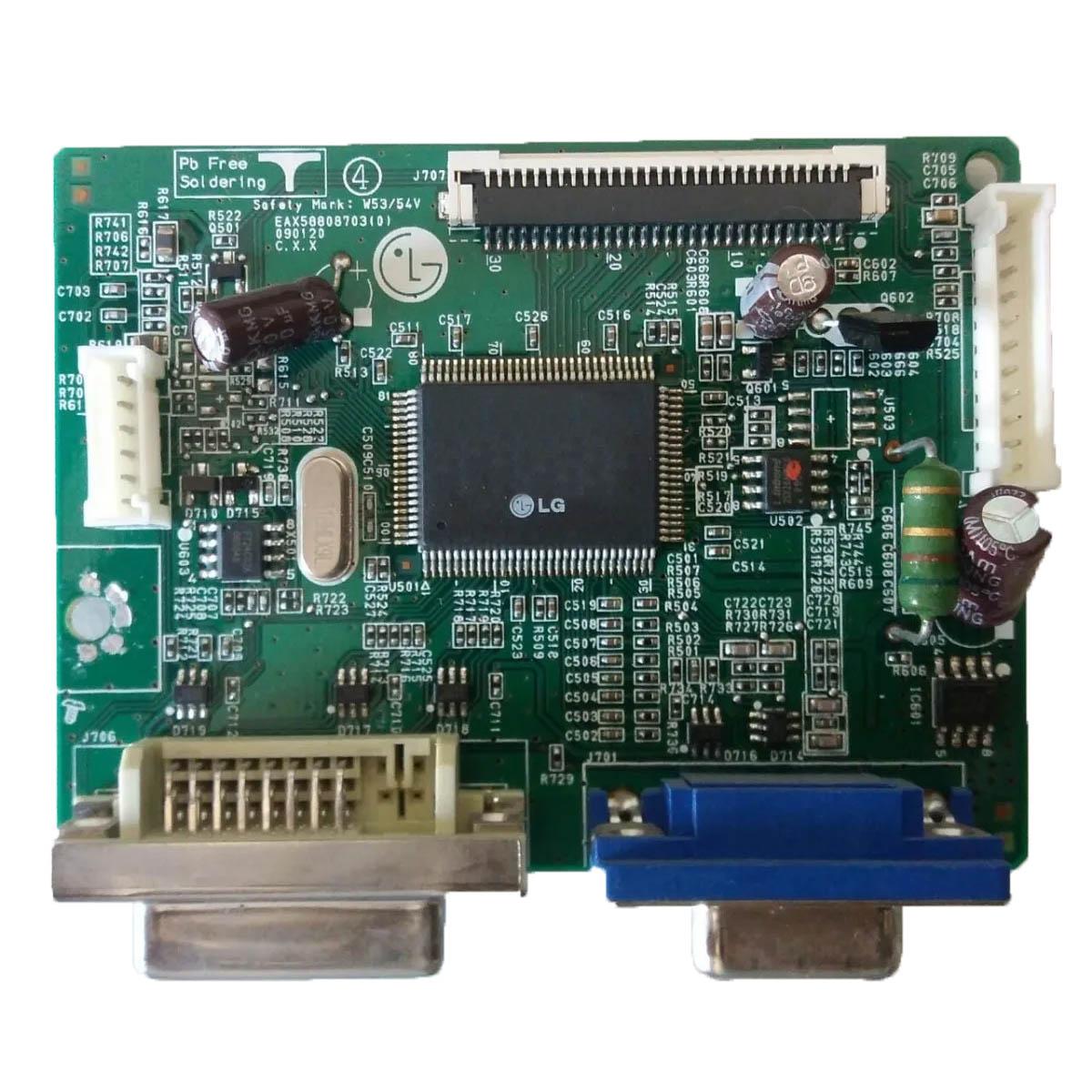 Placa Lógica Monitor LG W1953tc Pf PN:Eax58808703 (0) - Retirado