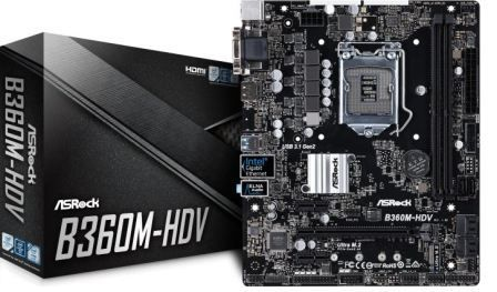 Placa Mãe ASRock B360M-HDV LGA1151 Chipset Intel B360, 90-MXB730-A0UAYZ