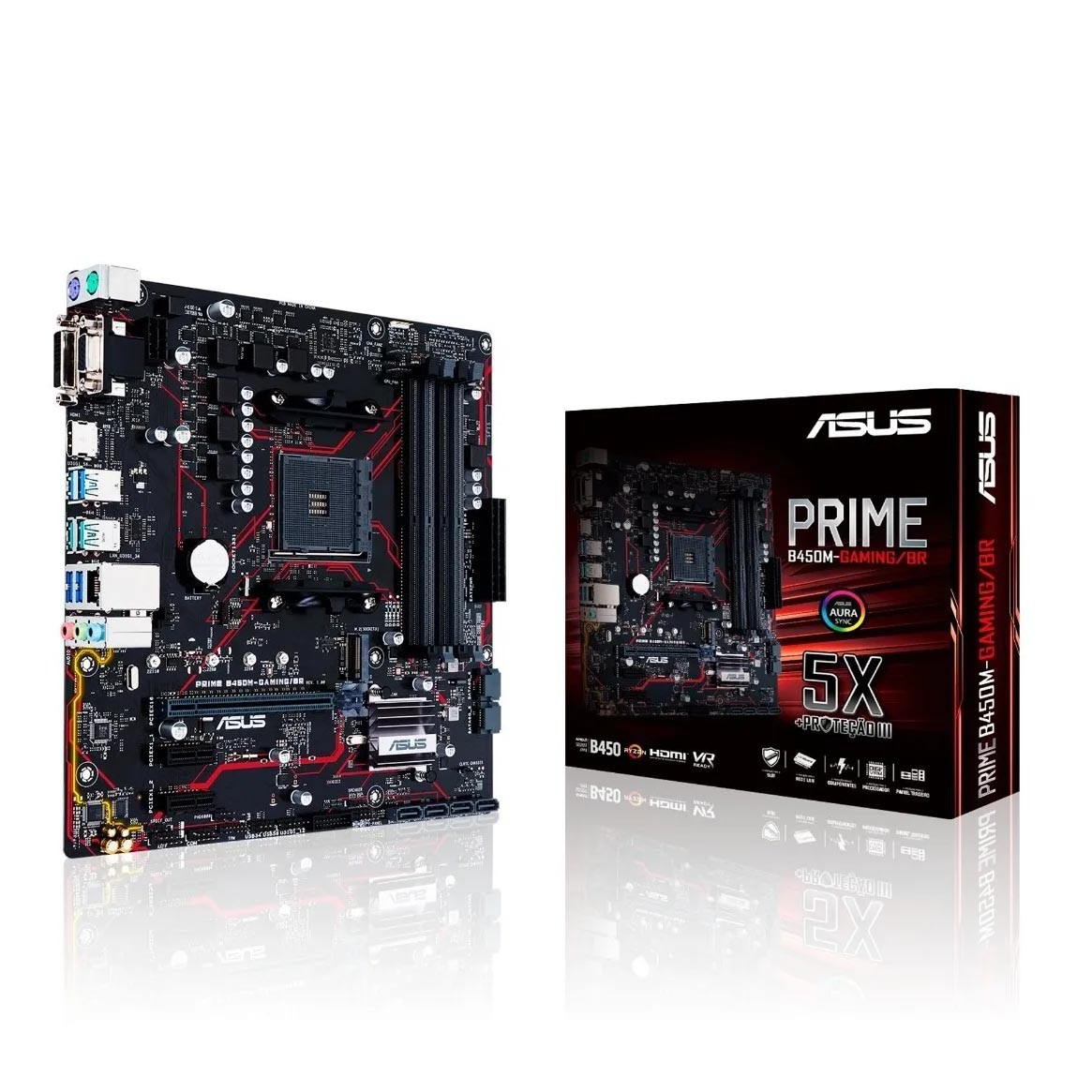 Placa Mãe Asus Prime Gaming (90mb10h0-c1bay0) Am4 Ddr4 - B450M-GAMING/BR