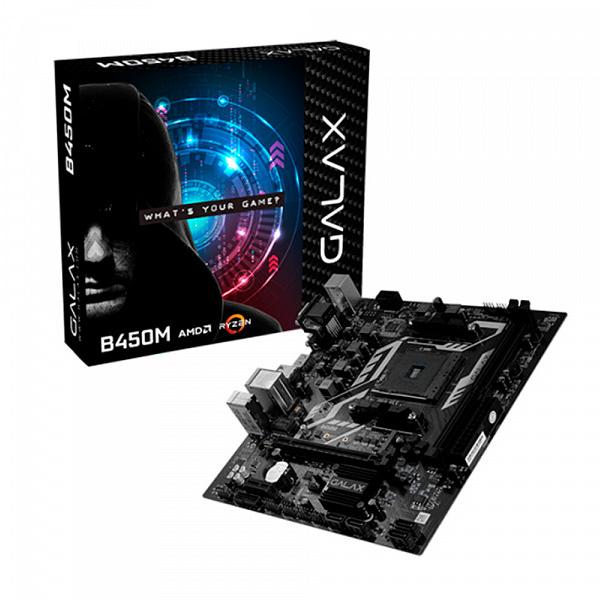 Placa Mãe Galax B450M AMD Socket AM4 M-ATX - AB450MAGCHJ1CW