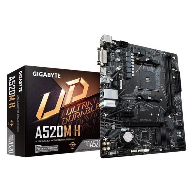 Placa Mãe Gigabyte A520M H DDR4 Socket AM4 Chipset AMD - A520