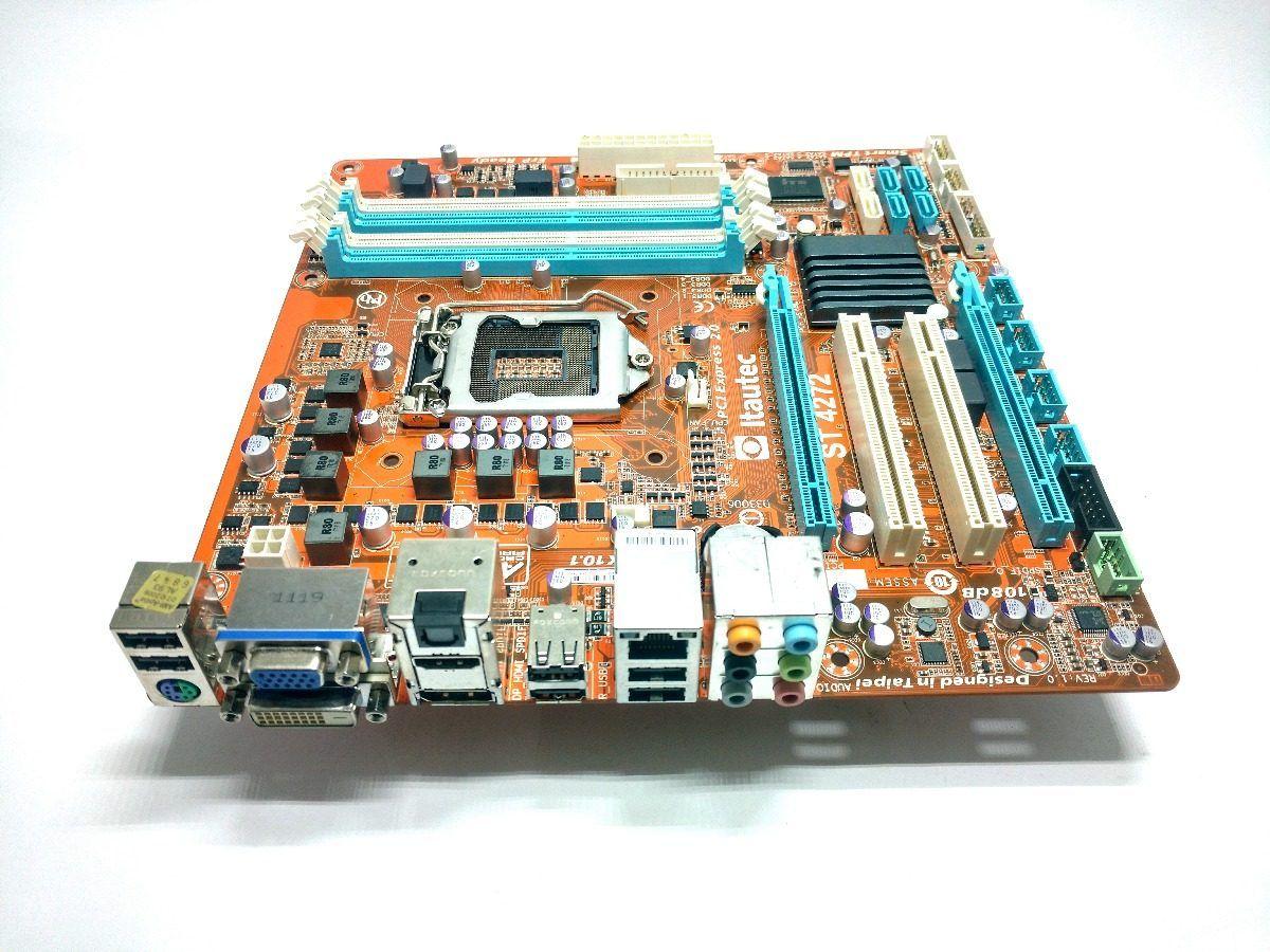 Placa Mãe Itautec ST-4272 1155 HDMI DIsplay Port 4 Slots DDR3 Bios Atualizada Q77 2ª e 3ª Geração