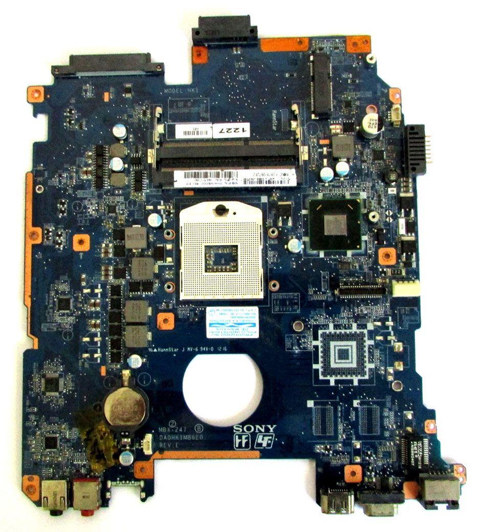 Placa Mãe Notebook Sony Vaio Mbx-247 DA0HK1MB6E0 (Placa C/ Defeito)