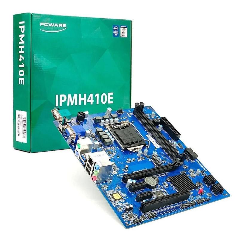 Placa Mãe Pcware Intel Lga1200 Ddr4 H410 10ª Geração mATX LGA DDR4  - IPMH410E