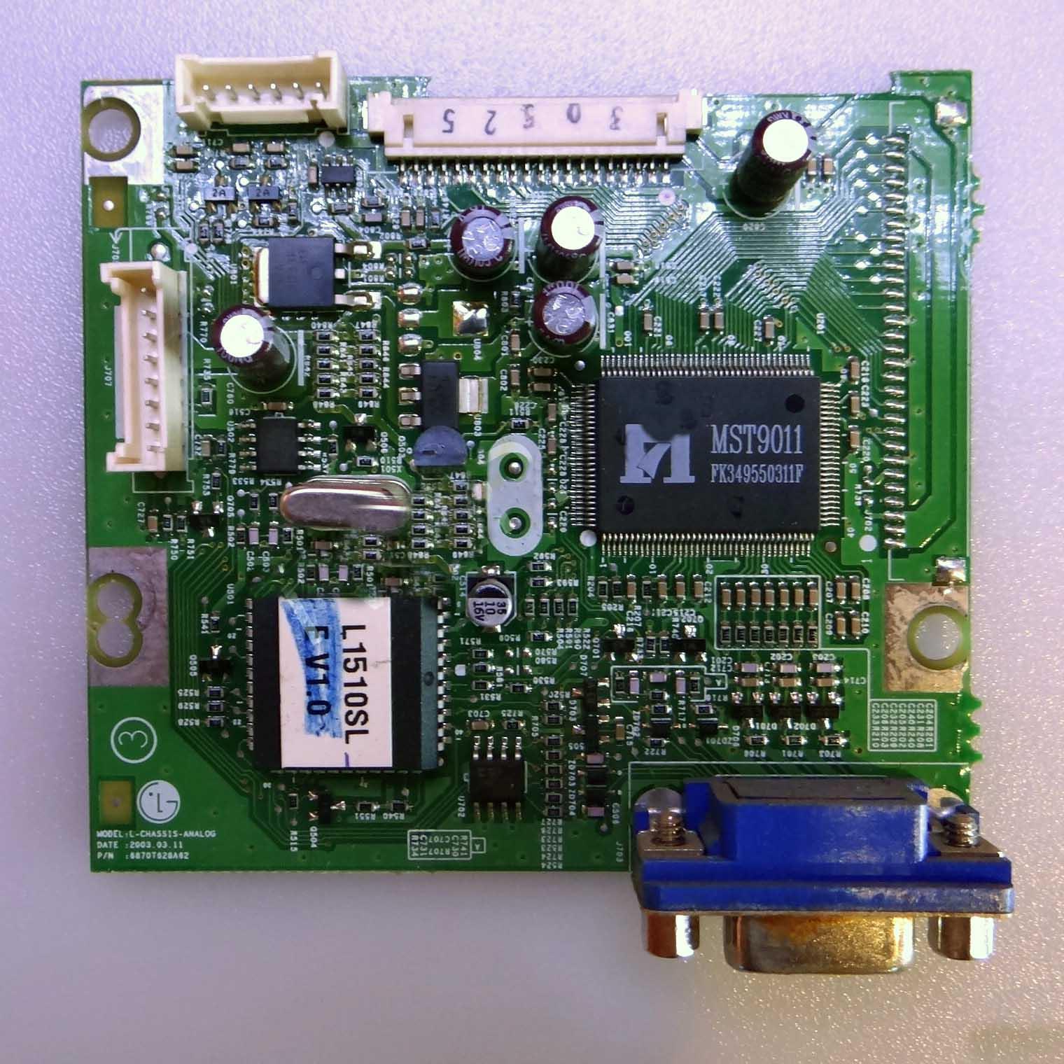Placa Principal  Monitor LG  / Philips  PN: L-CHASSIS-ANALOG; 6870T628A62 - Retirado