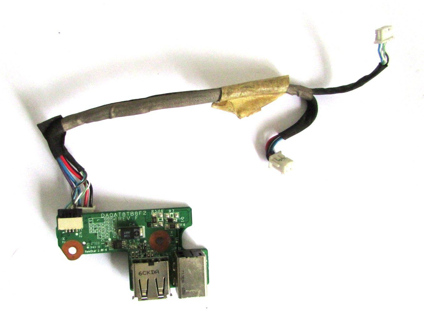 Placa Power Jack + Usb HP Dv6000 Daoat8tb8f2 439186-214 (semi novo)