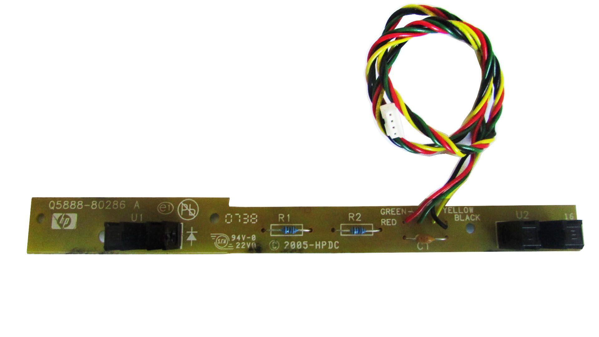 Placa Sensor Do Papel Impressora HP C4480 C4280 Series P/N: Q5888-80286 (semi novo)
