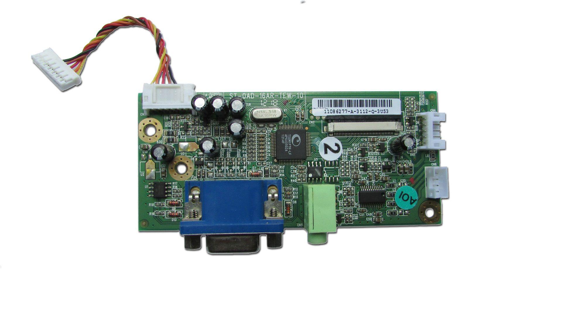 Placa VGA Monitor positivo Smile 5611 PN: St-oad-16ar-tew-10  - Retirado